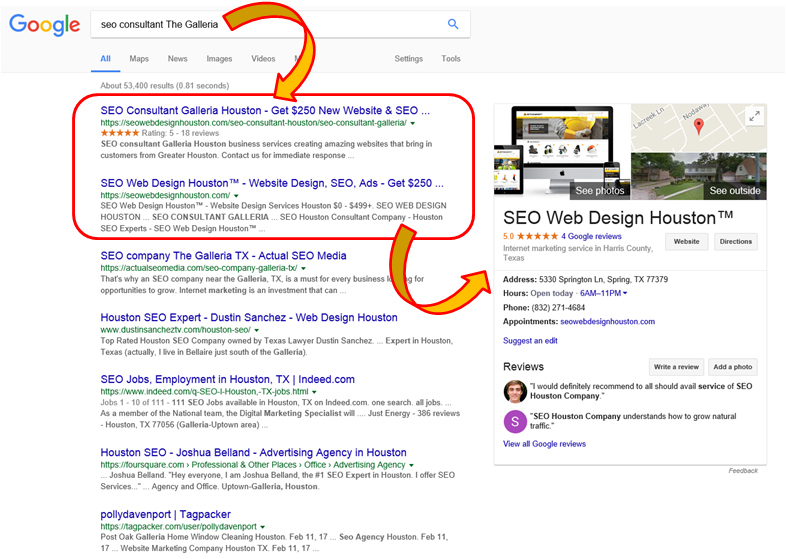 SEO Houston - Google Search