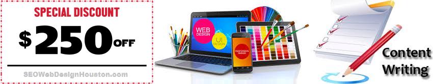 $250 OFF Website Design and Website Content by SEOWebDesignHouston.com
