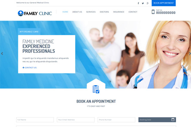 Medical Clinic Website Houston
