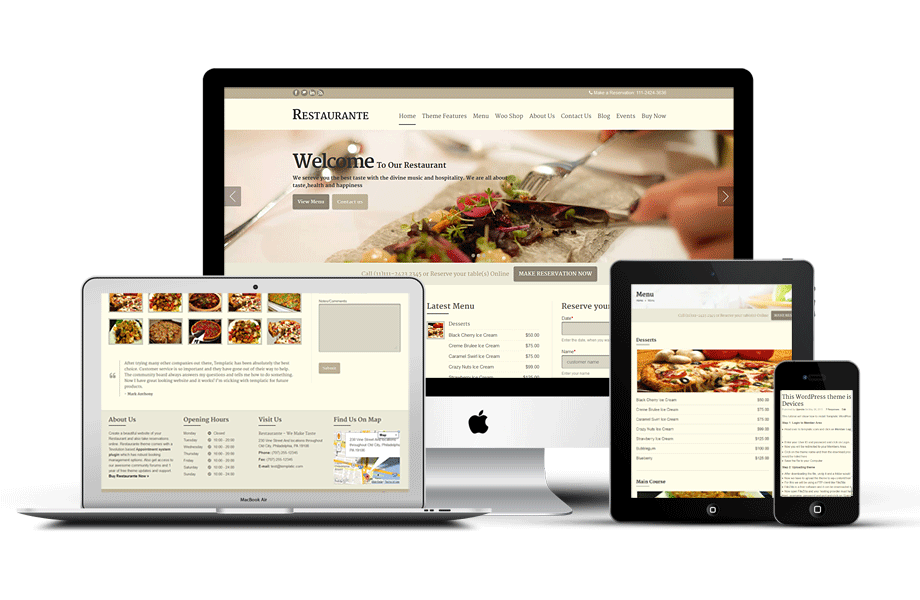 restaurante-wordpress-theme-responsive Houston Website Design