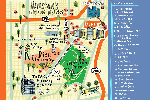 Houston Museum District Map | Affordable Website Design, SEO, Google ...