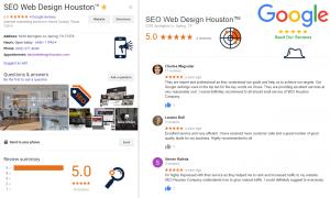 Google Reviews SEO Web Design Houston